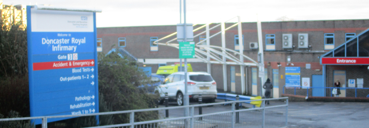 OUTSIDE DONCASTER ROYAL INFIRMARY
